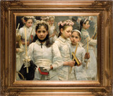 After the First Holy Communion (Detail 3 Girls) - Museum Framed Canvas