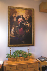 Mary Undoer of Knots Church-Sized Framed Canvas