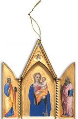 Madonna and Child Triptych I Wood Ornament