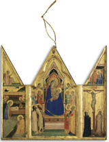 Madonna and Child Triptych III Wood Ornament