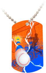 """""""Doing It All"""" Baseball Dog Tag"""