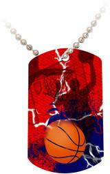 """""""Doing It All"""" Basketball Dog Tag"""