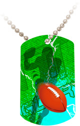 """Doing It All"" Football Dog Tag"