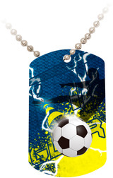 """Doing It All"" Soccer Dog Tag"