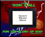 """""""Doing It All"""" Basketball Picture Frame"""