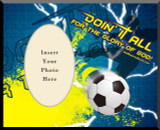 """Doing It All"" Soccer Photo Frame"