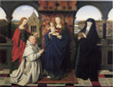 Virgin & Child With Saints and Donor by Jan van Eyck Print