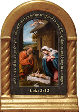 Nativity with Reaching Jesus Prayer Desk Shrine