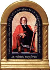 St. Florian-Firefighter's Prayer Desk Shrine