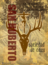Spanish St. Hubert Graphic Poster