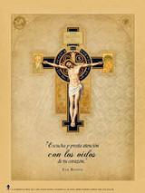 Spanish Benedictine Cross Poster