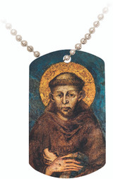 St. Francis by Cimabue Dog Tag