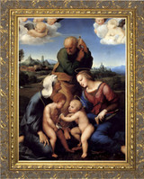 Canigiani Holy Family by Raphael - Gold Framed Art