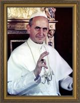 Saint Pope Paul VI - Gold Framed Art