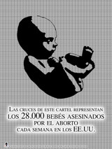 Spanish Abortion Crosses Poster