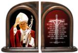 St. John Paul II Waving Bookends