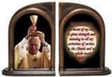 St. John Paul II Raising Chalice Bookends