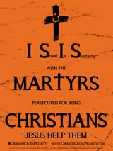Orange Cross Project Martyr Solidarity Poster