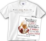 St. John Paul II Waving Value T-Shirt