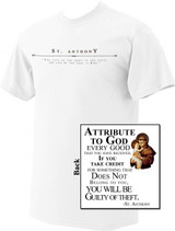 St. Anthony with Jesus Full Color T-Shirt