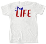 """Pro-Life"" Red, White, and Blue T-Shirt"