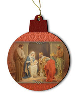 Chamber's Nativity Wood Ornament