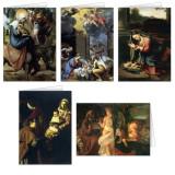 Nativity Scenes Christmas Cards Set (25 Cards)
