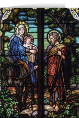 Flight into Egypt Stained Glass Christmas Cards (25 Cards)