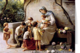 Adoration (Mary and Jesus with Children) by Guiseppe Magni Christmas Cards (25 Cards)