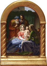 Holy Family with Grandparents Joachim and Anne Desk Shrine