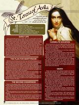 St. Teresa of Avila Explained Poster