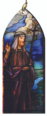 St. Joseph Stained Glass Wood Ornament