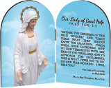 Our Lady of Good Help Arched Diptych