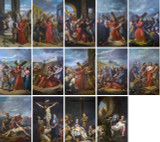 Bertucci Stations of the Cross Indoor Outdoor Aluminum Prints (Set of 14)