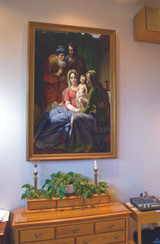 Holy Family with Grandparents Joachim and Anne Church-Sized Framed Canvas