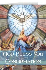 Coming of the Holy Spirit Confirmation Greeting Card
