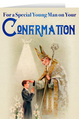 A Young Man's Confirmation Greeting Card