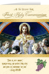 Christ, Bread of Angels First Communion Greeting Card I