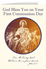 Christ, Bread of Angels First Communion Greeting Card III