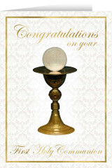 Chalice First Communion Greeting Card