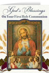 Jesus and the Children First Communion Greeting Card
