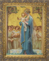 Madonna and Child by Enric M. Vidal Framed Canvas