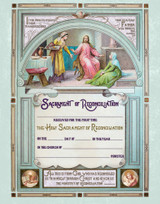 Traditional First Reconciliation Sacrament of Confession Certificate Unframed