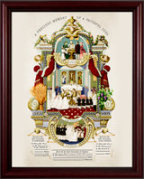 Traditional Sacraments of Initiation Record Certificate in Cherry Frame