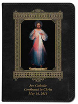 Personalized Catholic Bible with Divine Mercy Vilnius Original Cover - Black NABRE