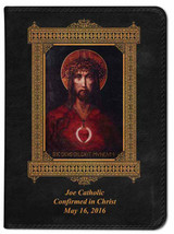 Personalized Catholic Bible with For God So Loved the World Cover - Black RSVCE