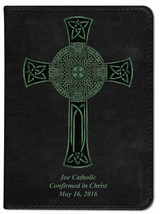 Personalized Catholic Bible with Celtic Cross Cover - Black NABRE