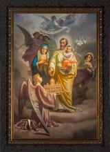 Joseph, Patron of the Church - Ornate Dark Framed Canvas