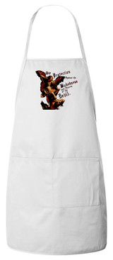 St. Michael the Archangel Apron (White)