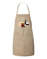 Cook With Wine Apron (Natural)